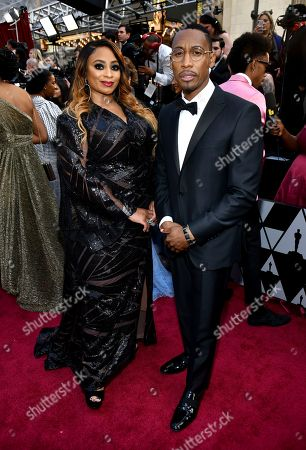 Taura Stinson, Raphael Saadiq. Taura Stinson, left, and Raphael Saadiq arrive at the Oscars, at the Dolby Theatre in Los Angeles