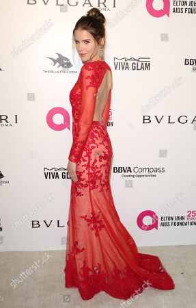 Sofia Mattsson arrives at the 2018 Elton John AIDS Foundation Oscar Viewing Party, in West Hollywood, Calif