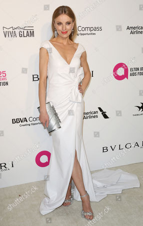 Stock Picture of Bar Paly arrives at the 2018 Elton John AIDS Foundation Oscar Viewing Party, in West Hollywood, Calif
