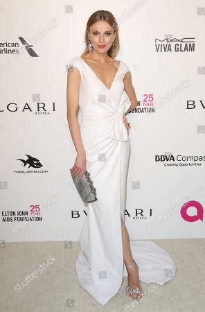 Bar Paly arrives at the 2018 Elton John AIDS Foundation Oscar Viewing Party, in West Hollywood, Calif