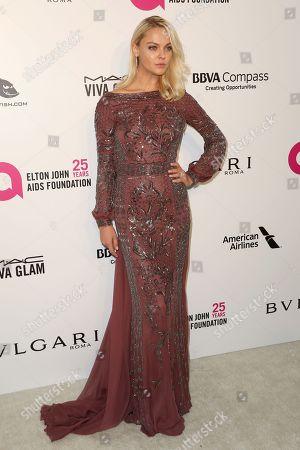 Stock Image of Viktoriya Sasonkina arrives at the 2018 Elton John AIDS Foundation Oscar Viewing Party, in West Hollywood, Calif