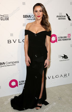 Stock Photo of Bella Dayne arrives at the 2018 Elton John AIDS Foundation Oscar Viewing Party, in West Hollywood, Calif
