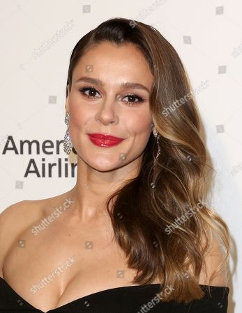Bella Dayne arrives at the 2018 Elton John AIDS Foundation Oscar Viewing Party, in West Hollywood, Calif