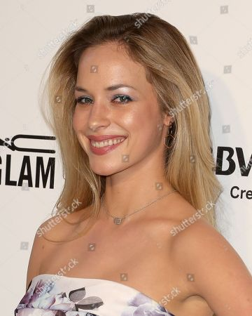 Alexis Knapp arrives at the 2018 Elton John AIDS Foundation Oscar Viewing Party, in West Hollywood, Calif