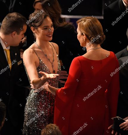 Gal Gadot, Yaron Varsano, Allison Janney. Gal Gadot, left, and Allison Janney appear in the audience at the Oscars, at the Dolby Theatre in Los Angeles