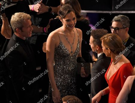 Gal Gadot, Yaron Varsano, Sam Rockwell, Allison Janney. Yaron Varsano, from left, Gal Gadot, Sam Rockwell, and Allison Janney appear in the audience at the Oscars, at the Dolby Theatre in Los Angeles