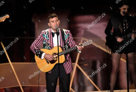 "Sufjan Stevens, St. Vincent. Sufjan Stevens, left, and St. Vincent perform ""Mystery of Love"" from the film ""Call Me By Your Name"" at the Oscars, at the Dolby Theatre in Los Angeles"