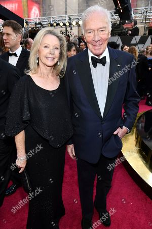 Elaine Taylor, Christopher Plummer. Elaine Taylor, left, and Christopher Plummer arrive at the Oscars, at the Dolby Theatre in Los Angeles