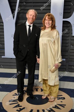 Ron Howard, Cheryl Howard. Ron Howard, left, and Cheryl Howard arrive at the Vanity Fair Oscar Party, in Beverly Hills, Calif