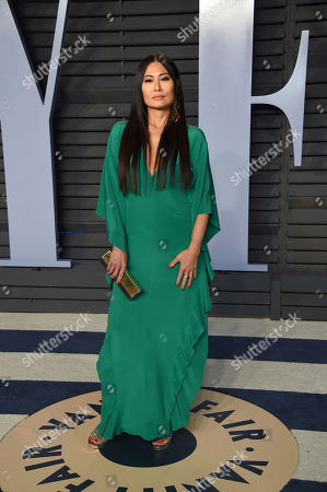 SunHee Grinnell arrives at the Vanity Fair Oscar Party, in Beverly Hills, Calif