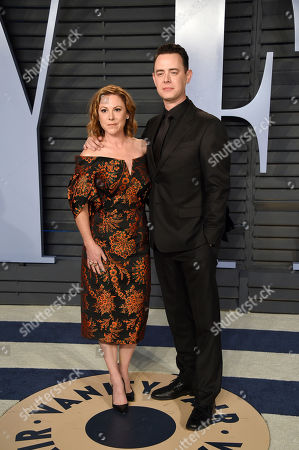 Samantha Bryant, Colin Hanks. Samantha Bryant, left, and Colin Hanks arrive at the Vanity Fair Oscar Party, in Beverly Hills, Calif