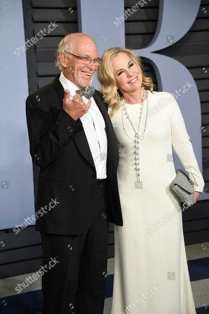 Jimmy Buffett, Jane Slagsvol. Jimmy Buffett, left, and Jane Slagsvol arrive at the Vanity Fair Oscar Party, in Beverly Hills, Calif