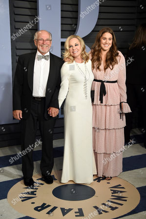 Stock Image of Jimmy Buffett, Jane Slagsvol, Sarah Delaney Buffett. Jimmy Buffett, from left, Jane Slagsvol, and Sarah Delaney Buffett arrive at the Vanity Fair Oscar Party, in Beverly Hills, Calif