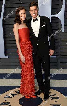 Allison Williams, Ricky Van Veen. Allison Williams, left, and Ricky Van Veen arrive at the Vanity Fair Oscar Party, in Beverly Hills, Calif