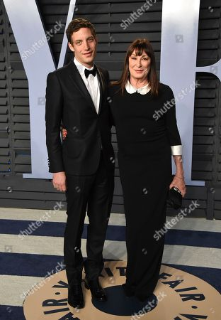 James Jagger, Anjelica Houston. James Jagger, left, and Anjelica Houston arrive at the Vanity Fair Oscar Party, in Beverly Hills, Calif
