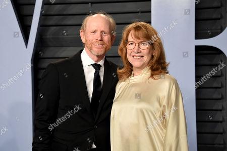 Ron Howard, Cheryl Howard. Ron Howard (L) and Cheryl Howard arrive at the Vanity Fair Oscar Party, in Beverly Hills, Calif