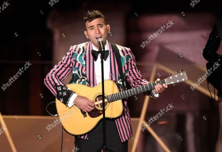 "Sufjan Stevens performs ""Mystery of Love"" from the film ""Call Me By Your Name"" at the Oscars, at the Dolby Theatre in Los Angeles"