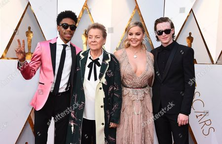 Darrell Britt-Gibson, Sandy, Martin, Abbie Cornish, Caleb Landry Jones. Darrell Britt-Gibson, from left, Sandy, Martin, Abbie Cornish, and Caleb Landry Jones arrive at the Oscars, at the Dolby Theatre in Los Angeles