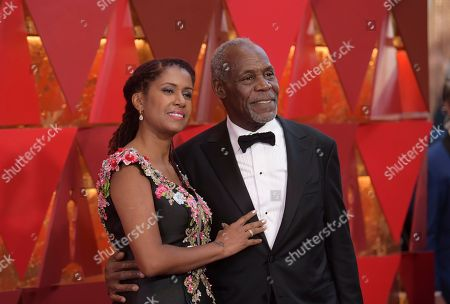 Stock Photo of Eliane Cavalleiro, Danny Gover. Eliane Cavalleiro, left, and Danny Glover arrive at the Oscars, at the Dolby Theatre in Los Angeles