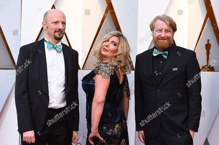 Ivan Mactaggart, Dorota Kobiela, Hugh Welchman. Ivan Mactaggart, from left, Dorota Kobiela, and Hugh Welchman arrive at the Oscars, at the Dolby Theatre in Los Angeles