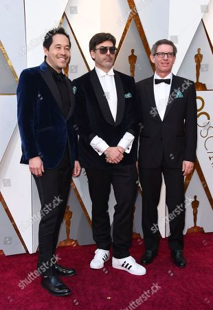 Paul D. Austerberry, Shane Vieau, Jeffrey A. Melvin. Paul D. Austerberry, from left, Shane Vieau and Jeffrey A. Melvin arrive at the Oscars, at the Dolby Theatre in Los Angeles