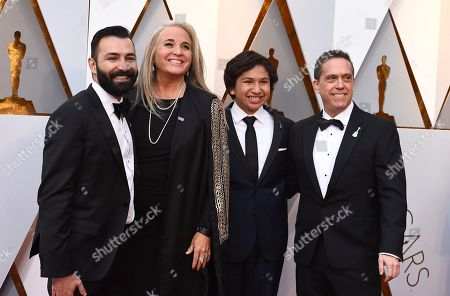 Adrian Molina, Darla K. Anderson, Anthony Gonzalez, Lee Unkrich. Adrian Molina, from left, Darla K. Anderson, Anthony Gonzalez, and Lee Unkrich arrive at the Oscars, at the Dolby Theatre in Los Angeles