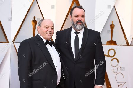 Stock Photo of Glen Gauthier, Brad Zoern. Glen Gauthier, left, and Brad Zoern arrive at the Oscars, at the Dolby Theatre in Los Angeles