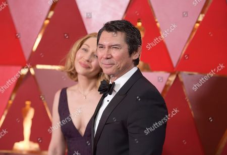 Yvonne Boismier Phillips, Lou Diamond Phillips. Lou Diamond Phillips, right, and Yvonne Boismier Phillips arrive at the Oscars, at the Dolby Theatre in Los Angeles