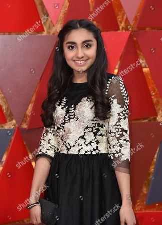 Saara Chaudry arrives at the Oscars, at the Dolby Theatre in Los Angeles