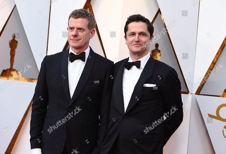 Graham Broadbent, Peter Czernin. Graham Broadbent, left, and Peter Czernin arrive at the Oscars, at the Dolby Theatre in Los Angeles