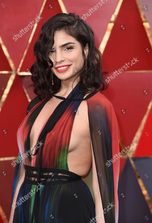 Stock Picture of Rita Hayek arrives at the Oscars, at the Dolby Theatre in Los Angeles