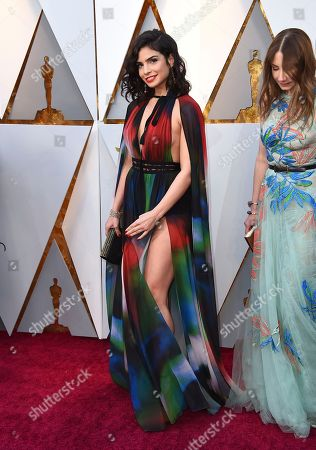 Stock Image of Rita Hayek arrives at the Oscars, at the Dolby Theatre in Los Angeles