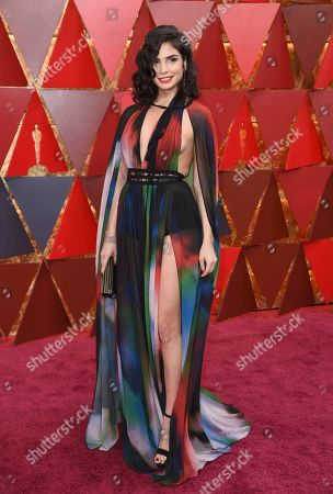 Rita Hayek arrives at the Oscars, at the Dolby Theatre in Los Angeles