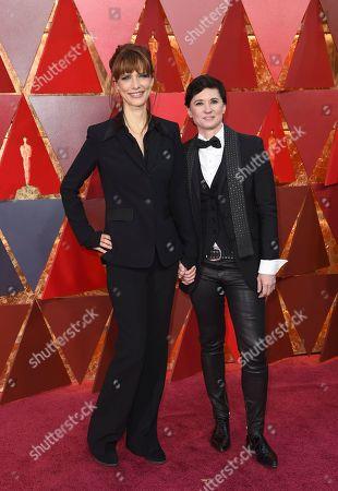 Evren Savci, Kimberly Peirce. Evren Savci, left, and Kimberly Peirce arrives at the Oscars, at the Dolby Theatre in Los Angeles