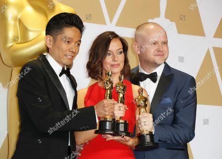 Kazuhiro Tsuji, Lucy Sibbick and David Malinowski