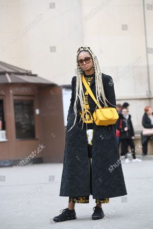 Editorial image of Street Style, Fall Winter 2018, Paris Fashion Week, France - 03 Mar 2018