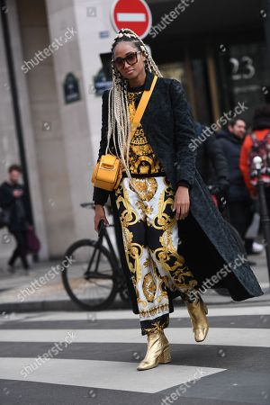 Editorial photo of Street Style, Fall Winter 2018, Paris Fashion Week, France - 03 Mar 2018