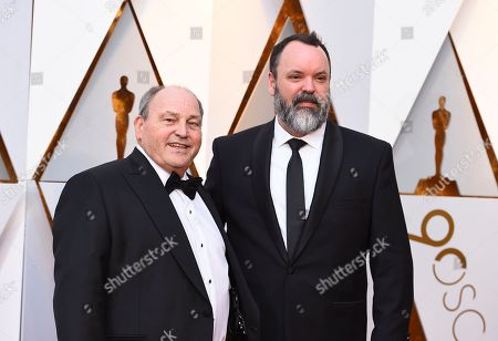 Stock Picture of Glen Gauthier, Brad Zoern. Glen Gauthier, left, and Brad Zoern arrive at the Oscars, at the Dolby Theatre in Los Angeles