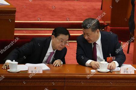 Xi Jinping and Zhang Dejiang