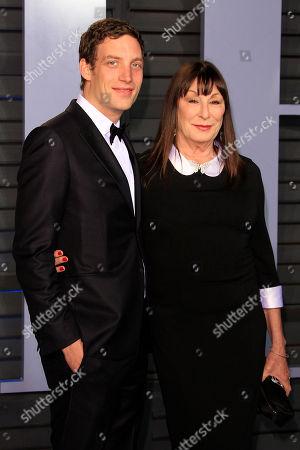 James Jagger and Anjelica Huston