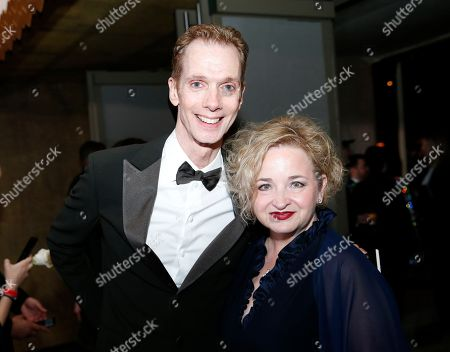 Stock Picture of Doug Jones, Laurie Jones. Doug Jones, left, and Laurie Jones attend the Governors Ball after the Oscars, at the Dolby Theatre in Los Angeles