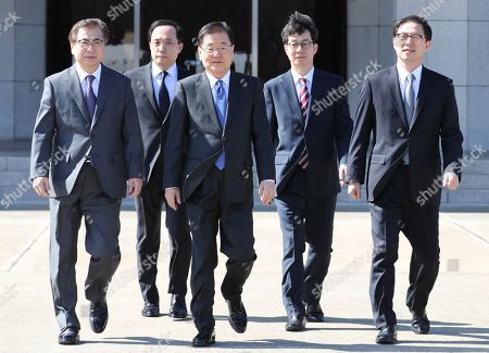 Editorial image of South Korean envoy delegation heads to North Korea, Seongnam - 05 Mar 2018