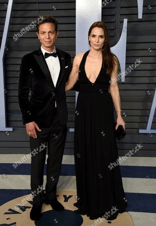 Benjamin Bratt, Talisa Soto. Benjamin Brett, left, and Talisa Soto arrive at the Vanity Fair Oscar Party, in Beverly Hills, Calif