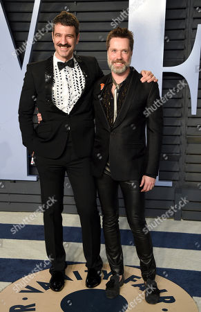 Jorn Weisbrodt, Rufus Wainwright. Jorn Weisbrodt, left, and Rufus Wainwright arrive at the Vanity Fair Oscar Party, in Beverly Hills, Calif