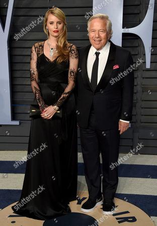 Ricki Noel Lander, Robert Kraft. Ricki Noel Lander, left, Robert Kraft arrives at the Vanity Fair Oscar Party, in Beverly Hills, Calif