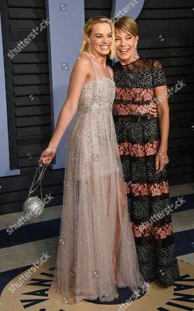 Margot Robbie, Sarie Kessler. Margot Robbie, left, and Sarie Kessler arrive at the Vanity Fair Oscar Party, in Beverly Hills, Calif