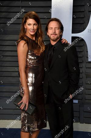 Jill McCormick, Eddie Vedder. Jill McCormick, left, and Eddie Vedder arrive at the Vanity Fair Oscar Party, in Beverly Hills, Calif