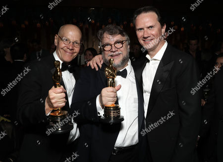 WME's Robert Newman, Guillermo Del Toro, Chief Executive Officer of Fox Networks Group Peter Rice