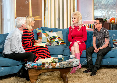Phillip Schofield and Holly Willoughby with Lauren Harries and Bruce Hills