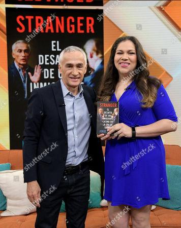Jorge Ramos and Gaby Pacheco